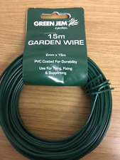 15M GARDEN WIRE 2MM PVC COATED USE FOR TYING FIXING CLIMBING PLANTS AND SHRUBS