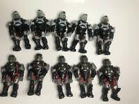 Mega Bloks Construx Halo Black Red Marine 10 figures  *New Unused*