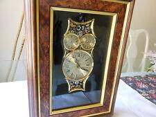 SHONTEK DM-2000 Quartz Arts & Crafts by LORE Owl Design w/ Actual Clock Pieces