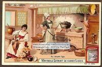 Middle-Ages Kitchen And Cooks c1910 CHROMO Trade Ad Card