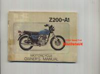 Genuine Kawasaki Z200 A1 (1977>) Owners Riders Manual Hand-Book KZ Z 200 A AF03