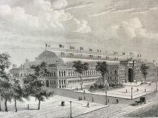 Paris Palais de l'Industrie estampe de 1856