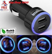 Mini Dual USB Twin Port 12-Volt Car Cigarette Lighter Socket Charger Adapter