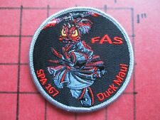ORIGINAL SQUADRON PATCH FRANCE FRENCH AIR FORCE AERIENNE SPA-167 FAS DUCK MAU