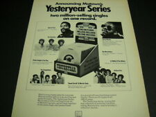 Motown Rare 1973 Promo Poster Ad The Supremes Marvin Gaye Jackson Five others
