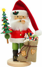 Christian Ulbricht Incense Burner Santa Rosy Red 10 x 6 Wood Christmas Figurine