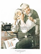 "Norman Rockwell shortwave print: ""THE WONDERS OF RADIO"" 11x15"" 8x10"" amateur ham"