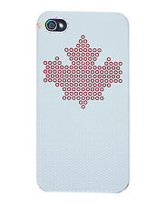 COVER CUSTODIA IPHONE 4 4S RIGIDA BIANCA STELLA ROSSA