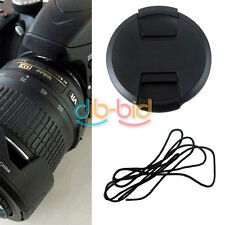52mm Front Lens Cap Cover 18-55mm 55-200mm with Cord For Nikon Lens Filter New