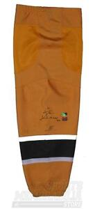 Zdeno Chara Boston Bruins Signed Autographed Yellow Game Worn Sock