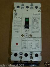 New GE FCV 3 pole 20 amp 600v FCV36TE020R2 Circuit Breaker CHIPPED HANDLE