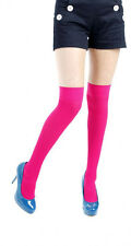 PAMELA MANN - Ribbed Overknee Legwear - Magenta - One Size -  BNIP