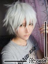 Gintama Sakata Gintoki Silver White Anime cosplay party wig + free wig cap