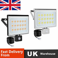More details for ultra-thin led floodlight pir sensor motion 10-100w outdoor security flood light