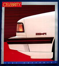 Prospectus brochure 1987 CHEVROLET CHEVY Celebrity (USA)