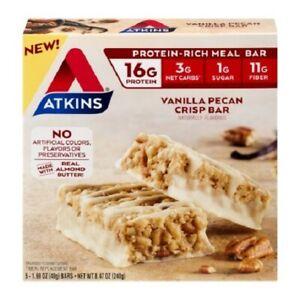 Atkins Meal Bar Vanilla Pecan Crisp