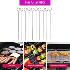 10 x Metal BBQ Skewers Barbecue Meat Vegetable Kebab Shish Kitchen Grill Cook