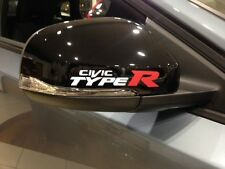 FOR CIVIC TYPE R MIRROR WHITE VINYL DECALS STICKER,ACCORD,JAZZ,GT, MUGEN,CAR