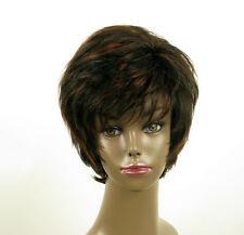 perruque femme afro 100% cheveux naturel courte méchée noir/rouge LAET 06/1b410