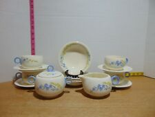 1938 14 PIece HLC Swing Eggshell Blue Flax Coffee/Tea Service Set for Four