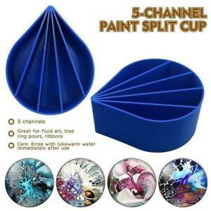 Acrylic Split Pouring Cups 5 Channels Polylactice pour Cup Tools Paint K7R3