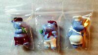 Ü-Ei-3 Figuren-Happy Hippos auf dem Traumschiff-1990-Selten-in Sammlerzustand !!