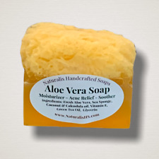 Aloe Vera Soap with Sea Sponge | Relieve dry and itchy skin