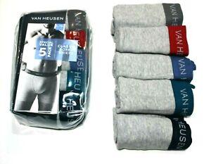 Men's  5-Pack Van Heusen Classic Boxer Briefs Gray/Grey Underwear - Large(36-38)