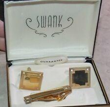 Metal Set Blank Costume Jewelry Vintage Swank Mens Cufflink Goldtone
