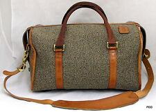 Hartmann Luggage Tweed 15 inch Cosmetic Duffel Overnight Bag Shoulder Strap
