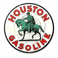 Vintage Design Sign Metal Decor Gas and Oil Sign - Houston Oil and Gasoline