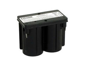 2 x Hawker Enersys Cyclon  Battery 0809-0010 4 Volt 4V 5Ah SLA Monobloc Battery