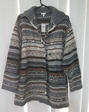 J JILL Multi Jumper Cardigan Jacket Blouse Top Size 3X Very warm Winter Jacket