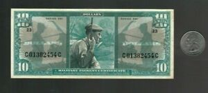 MPC Military Payment Certificate Series 681 $10 Dollar Note, EF