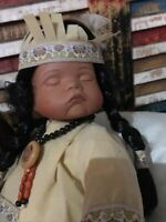 Goldenvale Native American Sleeping Baby Doll 12 Inches Tall With Drum