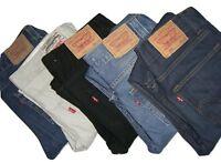 Da Uomo Originali Levis 512 Svasati Denim Jeans W30 W31 W32 W33 W34 W36