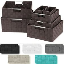 7-Pack Storage Box Set for Closet & Shelves - Woven Fabric Basket Organizer Bins