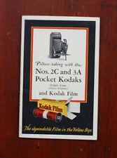 KODAK NO. 2C AND 3A POCKET kodak INSTRUCTION BOOK, NOV 1929/cks/210637