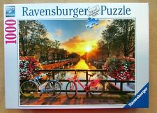 A 1000 PIECE JIGSAW PUZZLE RAVENSBURGER - BICYCLES IN AMSTERDAM