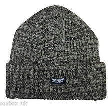 Mens Thinsulate Thermal Winter Beanie Hat - One Size