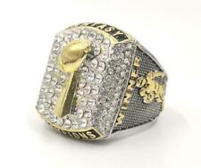 Fantasy Football Championship Silver & Gold Rings Three Dimensional Trophies