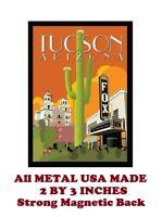 SM176- Tucson Arizona Travel Poster 2 by 3 Inch Metal Refrigerator Magnet