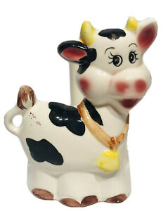 Vintage Ceramic Cow Paper Towel Holder 6.5 Inch Tall