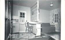 Paynesville MN~Interior, Fridge, Step Chair, Slots~Lake Koronis~1950s Real Photo
