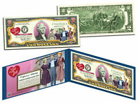 I LOVE LUCY Legal Tender U.S. $2 Bill *OFFICIALLY LICENSED* Lucille Ball w/Folio