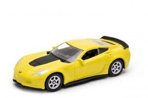 2017 Chevy Chevrolet Corvette Z06 Yellow, Welly NEX Series 1:60 1:64 52372