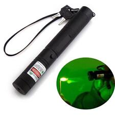 Powerful GREEN 5MW Adjustable Focus Laser Pointer with Battery Charger ~ NEW!