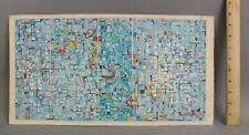 Original FREDERIC M FAILLACE Abstract Geometric Op-Art Watercolor & Ink Painting
