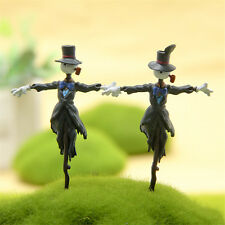 2pcs Studio Ghibli Howl's Moving Castle Kakashi no Kabu Figure Garden Decor