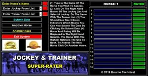 JOCKEY & TRAINER Super Rater Horse Racing System